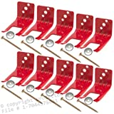 (Lot of 10) Fire Extinguisher Bracket, Wall Hook, Mount, Hanger, Universal from 5 to 13 Lb. Extinguishers, Universal For all Extinguishers with Valve Body Slots, NO SCREWS or WASHERS