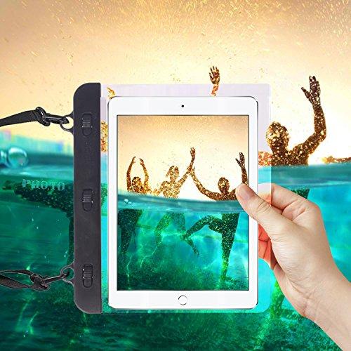 "I-Sonite Black Universal Waterproof Tablet Case Bag with Adjustable Neck Strasp Water For iBall Slide Cuddle 4G - 6.95"""