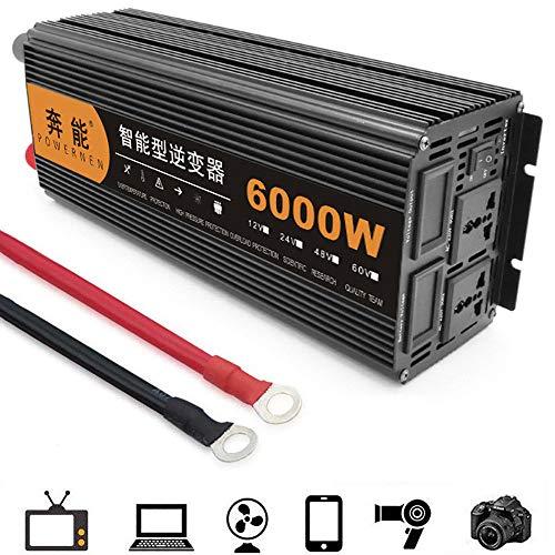 GRX-CAR 6000 W omvormer stopcontacten 12/24 V DC tot 220 V spanningsomvormer inverter met stopcontact en voor autolader adapter 12VTO220V