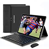 4G WiFi Tablet 10.1 Pulgadas , 2 in 1 Tablet con Teclado 4GB RAM+ 64GB ROM /128GB Escalables Android Tableta con Quad-Core 8MP 8000mAh Dual SIM Google Netfilx OTG Tablet PC (Negro)