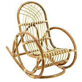 AubryGaspard Rocking Chair Enfant en rotin Naturel