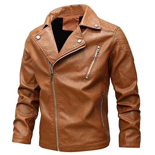 Herren Lederjacke Zipper wasserdicht Windstopper Biker Jacken männer Outdoorjacke übergangsjacken Kölner Karneval Weihnachten Herrenjacke CICIYONER