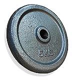 KVK FITNESS | Juego de discos de pesas de 10 kg – 2 x 5 kg de hierro fundido –...