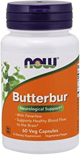 NOW Supplements, Butterbur with Feverfew, 60 Veg Capsules