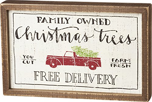 Primitives by Kathy Unisex-Adult Inset Box Sign Family Owned