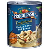 Progresso Soup, Traditional, Chicken and Orzo with Lemon Soup, 18.5 oz Cans (Pack of 6)