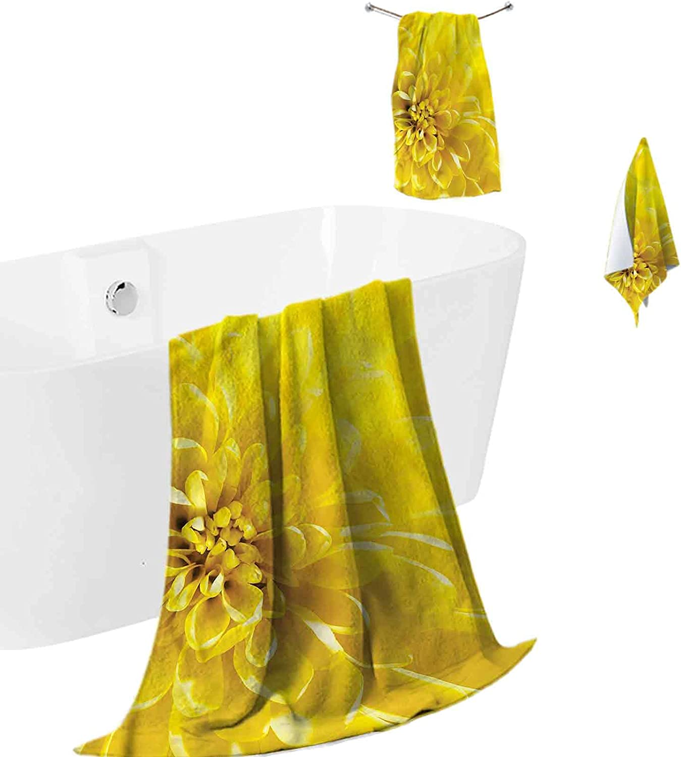 Kids Bath Towels Soft and Plush Bridal In a Virginia Beach Mall popularity Flower Bloom Yellow