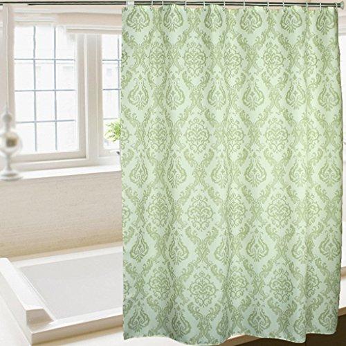 Les rideaux en polyester vert de style européen de salle de bains imperméabilisent les rideaux imperméables de coupe de Mildewproof ( taille : 280*200cm )
