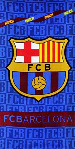 SETINO FC Barcelona - Toalla de playa (70 x 140 cm,100% algodón), diseño del FC Barcelona 🔥