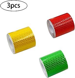 color rojo de seguridad 5 cm x 3 m Cinta adhesiva reflectante SKS Distribution