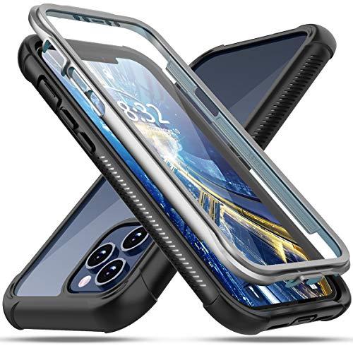 Oterkin iPhone Pro Hülle,iPhone Hülle, 12 360 Grad Transparent Stoßfest mit Eingebautem Bildschirmschutz Robust TPU Bumper Handyülle Schutzhülle für iPhone Pro Hülle