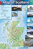 Poster Karte von Schottland 40x60cm