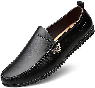 ドライビングシューズ ローファー 大きいサイズ 本革 革靴 スリッポン メンズ靴 幅広 黒 デッキシューズ カジュアルシューズ モカシン メンズシューズ 通勤 仕事 ブラック ブラウン 24cm-28cm