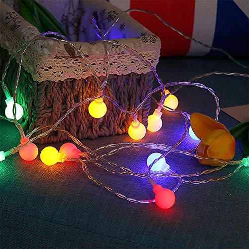 Jsmile Ball String Lights, LED Globe String Lights, Protection Level IP54, for Decor for Indoor Outdoor Party Wedding Christmas Tree Garden Festivals