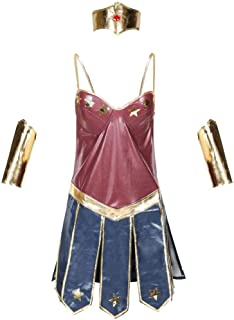 Halloween Wonder Woman Traje Parte De Adultos Etapa Cosplay Disfraces,Figura,L