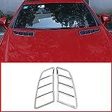 YUECHI ABS Chrome Engine Roof Hood Sticker Trim for Mercedes Benz SLK 200 2011 2012 2013 2014 2015 (Silver)