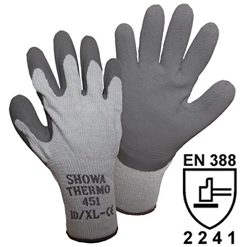 10 Paar 451 Thermo Showa Arbeitskleidung Handschuhe Winter Warm - Thermo - Sicherheitsgriff - Größe M 8