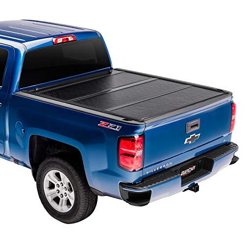Undercover Flex Hard Folding Truck Bed Tonneau Cover   FX11019   Fits 2014-2018 19 Ltd/Legacy Chevrolet Silverado/GMC SierraLegacy/Limited, 6′ 7″ Bed (78.9″)