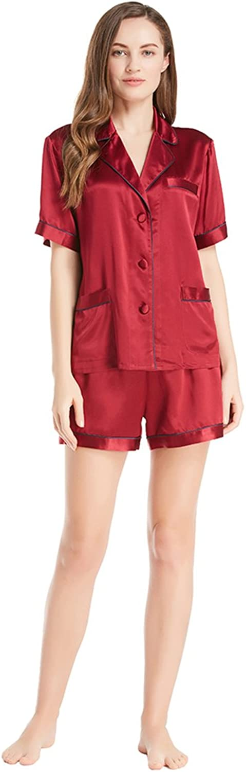 LilySilk 22MM Women Silk Pajamas Sets for Summer with Short Pants