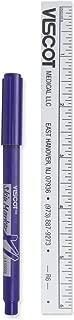 PDC Healthcare Ster-VXL Skin Marking Pen, 4 Mini Pen, XL-Long, Lasting Ink, Ultra-Fine Tip, Includes Ruler, Sterile, Gentian, Violet (Pack of 100)
