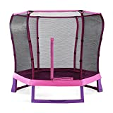 Plum 7ft Junior Jumper Springsafe Children's Trampoline and Enclosure - Pink & Purple