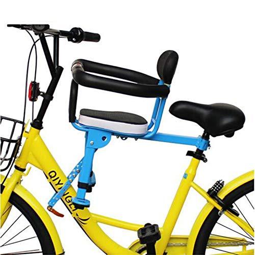 QLIGHA Kindersitz mit Einstellbarer Sicherheitsverriegelung für Mountainbike-Falträder, blau