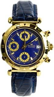 Pryngeps - Reloj Automatic and Manual Watch Chronograph CR757 Gold-Plated 10 micras