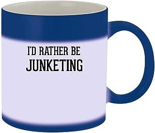 I'd Rather Be JUNKETING - 11oz Ceramic Blue Color Changing Mug, Blue