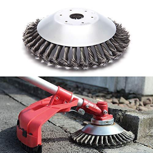 Cepillo redondo Cepillos de acero de 200 x 25,4 mm, Disco Cepillo Cabezal Universal de Recortadora para musgo