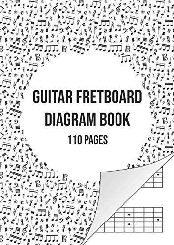 Guitar Fretboard Diagram Book: Guitar Neck Paper Notebook | 110 Pages