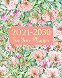 2021-2030 Ten Year Planner: Girl Flowers 10 Years Monthly Planner Appointment Calendar 8 x 10 Business Long Term Planner and Journal Agenda Schedule ... With Holidays and Inspirational Quotes