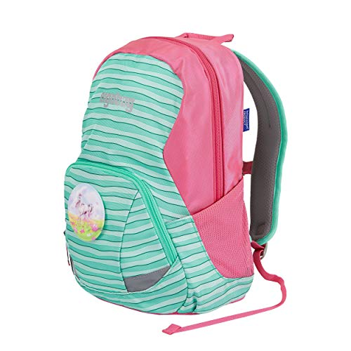 ergobag Ease Large Kids Backpack XS Mintfarbene Streifen