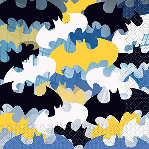 Unique Party- Batman Tovaglioli di Carta, 16,5 cm, Confezione da 16, 77512