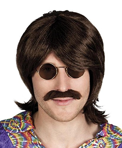 Hippy Wig with Beard 60s, 70s Style