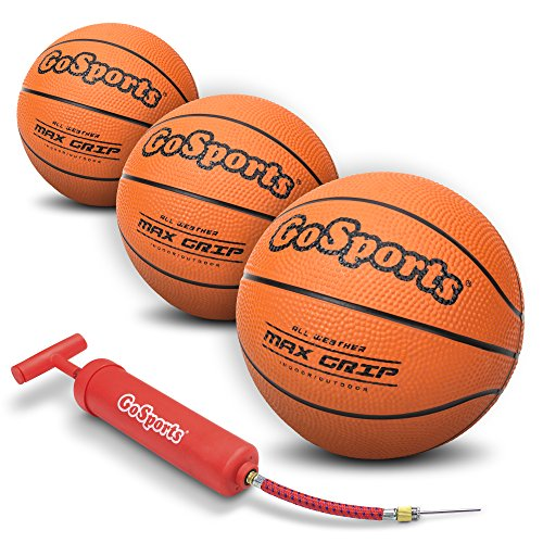 Best Deals! GoSports 5 Mini Basketball 3 Pack with Premium Pump - Perfect for Mini Hoops