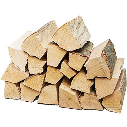 Legna da Ardere Selezione 5-90 kg Per Stufa e Camino Braciere Griglia Cestello per il Fuoco Ceppi 25 cm Flameup, Numero:20 kg