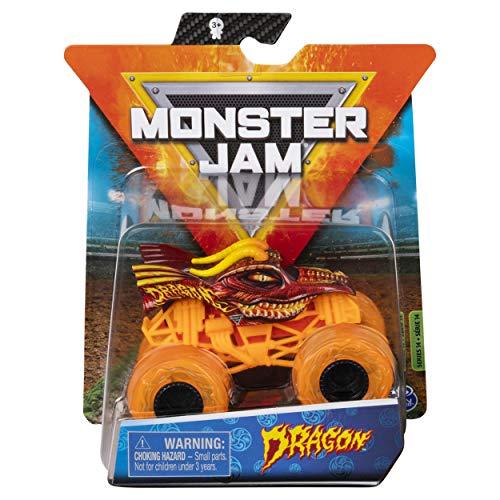 Monster Jam 2020 Spin Master 1:64 Diecast Monster Truck with Wristband: Elementals Trucks Fire Dragon