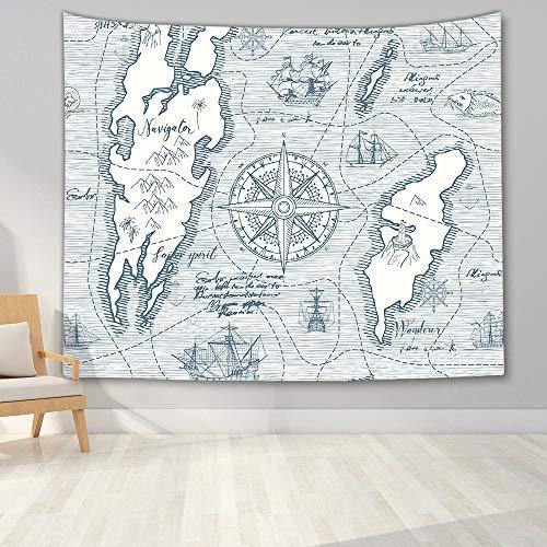 KHKJ Tapiz de Mapa del Mundo Mapa de Alta definición Tela para Colgar en la Pared Decoración Mapa Carta Colgar en la Pared A8 95x73cm