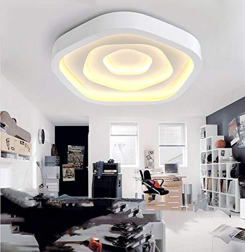 Kroonluchters LTJ Moderne Minimalistische Warm Woonkamer slaapkamer LED plafond lamp, Drie-kleuren Segmentatie, Diameter: 430mm nieuw in 2020