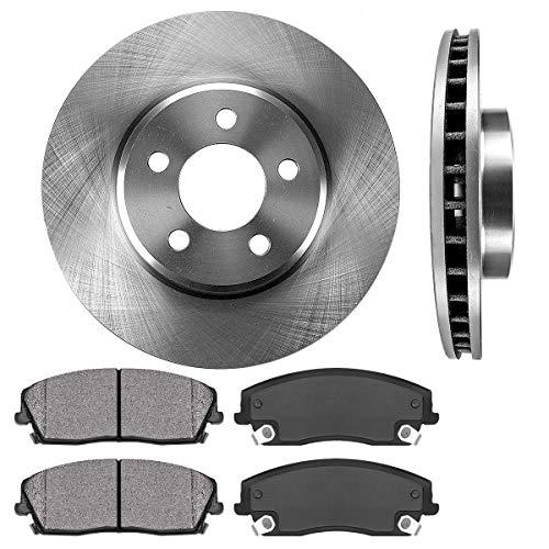 CRK13946 FRONT 320.04mm Premium OE 5 Lug [2] Brake Rotors + [4] Metallic Brake Pads [fit CHALLENGER CHARGER MAGNUM 300]
