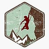 Vintage Rock Climbing Badge Logo Sticker Vinyl Decal Wall Laptop Window Car Bumper Sticker 5'