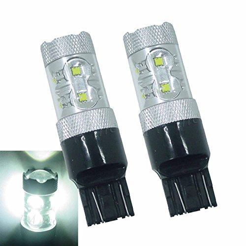 PA 2 x 7443 T20 double Contact Xenon Blanc CREE SMD LED Feu arrière arrière lampe ampoules