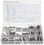 Alloy Steel Dowel Pin Assortment (176 Pieces), Plain Finish, Inch, With Case