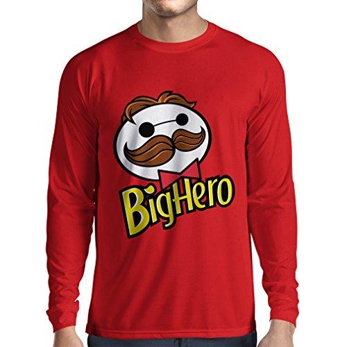 N4423L Camiseta de Manga Larga Big Hero (Large Rojo Multicolor)