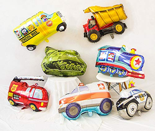 PartyWoo Auto Folienballon, 7 Stück Cars Folienballon, Folienballon Cars, Luftballon Ballon Cars, Riesen Helium Folienballons für Cars Party, Cars Geburtstagsparty, Geburtstagsparty Auto