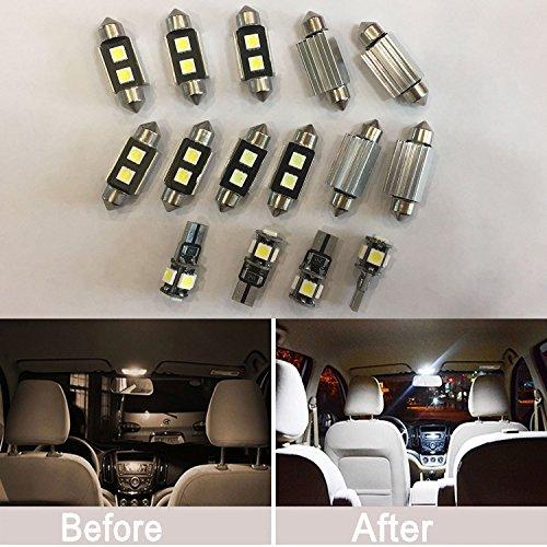 Lot de 17 LED Canbus Intérieur lumières kit de Lot de ampoules Blanc pour W164 ml + AMG
