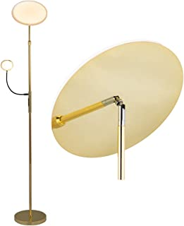 in Metallo ad es lampada LED da terra Soggiorno /& Sala da pranzo Lampada LED da terra Moisia colore Oro di Lindby 1 luce, E27, A++