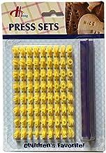 Mini Alphabet Letter Number Biscuit Cookie Cutter Press Stamp Embosser Cake Mould