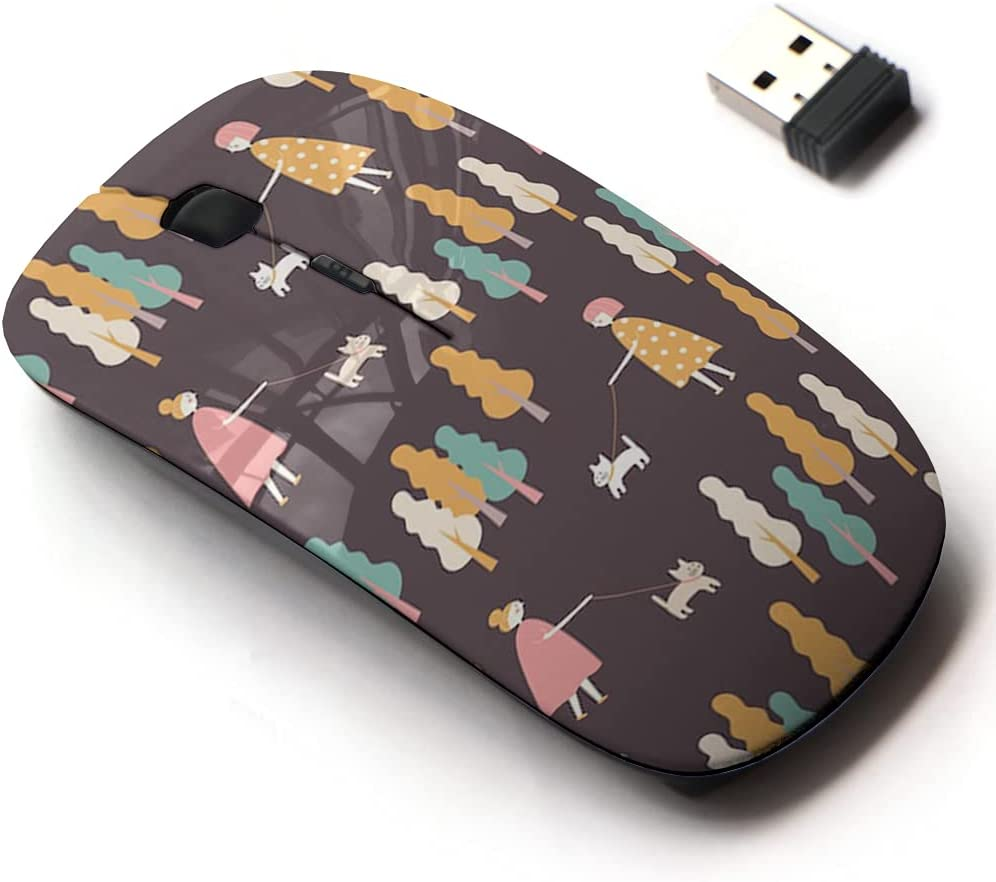2.4G New Free Shipping Wireless Mouse with Cute Pattern Laptops and Design All Ranking TOP2 for