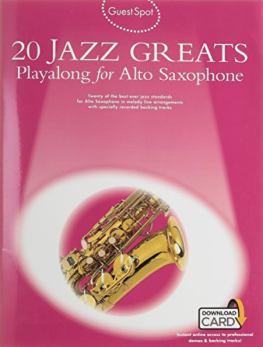 20 Jazz Greats Playalong For Alto Saxophone (Book/Audio Download)